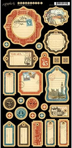 Graphic 45 Cityscapes Choose from Paper Pads//Ephemera Cards//Chipboard
