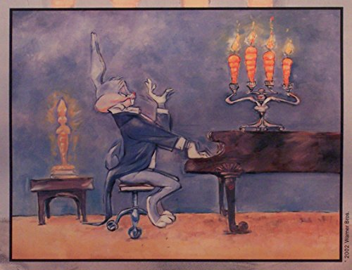 "Bugs Bunny in""Bugs at Piano Warner Bros. Artwork. Ltd. Run Print Custom Matted to 8"" x 10"" from Looney Tunes"
