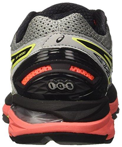 Mujer para 2000 Zapatillas Midgrey Gt Plateado de Asics 4 Flash Running Coral Black pq0Ff5