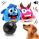 OAKZIP Dog Toys Interactive Plush Squeak Giggle Ball Automatic Shake Crazy Bouncer Toys for Puppy Motorized Exercise Electronic Toy Entertainment for Pets 2 Covers
