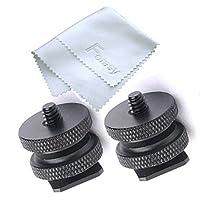 Tornillo trípode Fotasy SCX2 de 1/4 pulg. A zapata caliente con paño de limpieza Premier (negro)