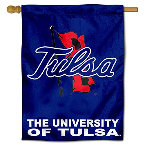(College Flags and Banners Co. University of Tulsa TU Hurricanes House Flag)