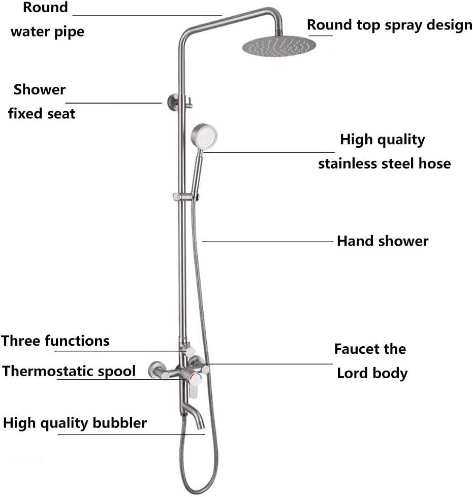 WBHD Columna de Ducha Termostatica 3 Funcion Constante de 38°C con ...