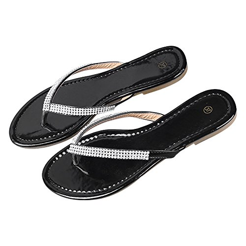 DULEE - Sandalias de vestir de poliuretano para mujer negro