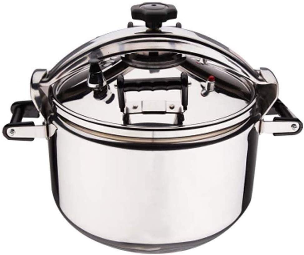 Explosion-proof pressure cooker Large Capacity proof Stainless Steel Pressure Cooker Gas Induction Cooker Universal Steam Stew Cook Pot Silver (Size : 25L)