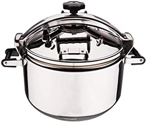 Explosion-proof pressure cooker Large Capacity proof Stainless Steel Pressure Cooker Gas Induction Cooker Universal Steam Stew Cook Pot Silver (Size : 20L)