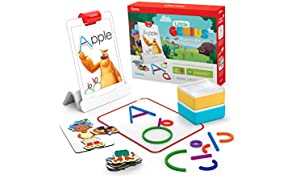 Osmo - Little Genius Starter Kit for iPad - 4 Hands-On Learning Games - Ages 3-5 - Problem Solving, Phonics & Creativity (Osmo iPad Base Included)