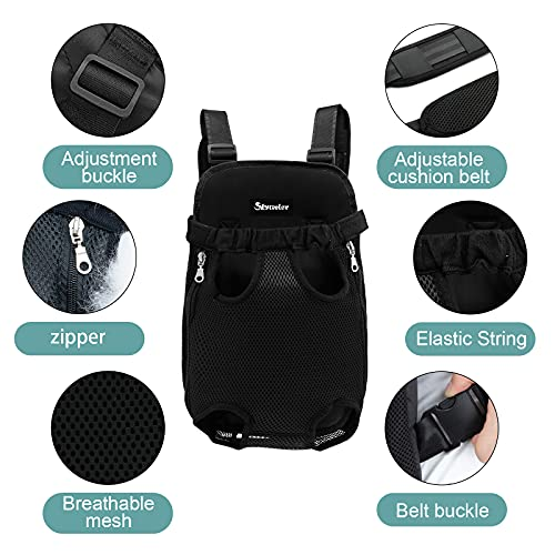 Skyteelor Pet Carrier Backpack, a Lightweight pet Travel Backpack, Suitable for Carrying Small and Medium-Sized Dogs and Cats for Biking, Camping, Hiking, Traveling,Large,Black