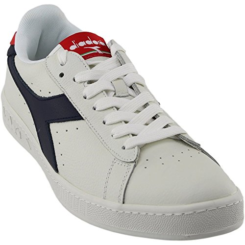 Diadora Game L Low Waxed Scarpe Low-Top, Unisex Adulto Bianco