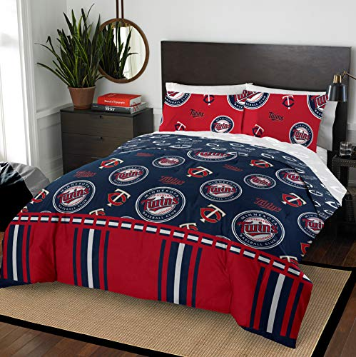 The Northwest Company MLB Minnesota Twins Queen Bed in a Bag Complete Bedding Set #311005905 (Minnesota Bag Twins)