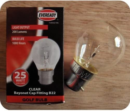 6x 60w Golfball Incandescent Dimmable Standard Clear BC B22 Light Bulb Lamp