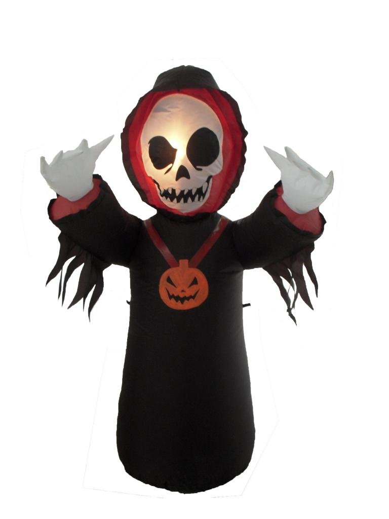 BZB Goods 4 Foot Halloween Inflatable Grim Reaper Lights Lighted Blowup Party Decoration for Outdoor Indoor Home Garden Family Prop Yard