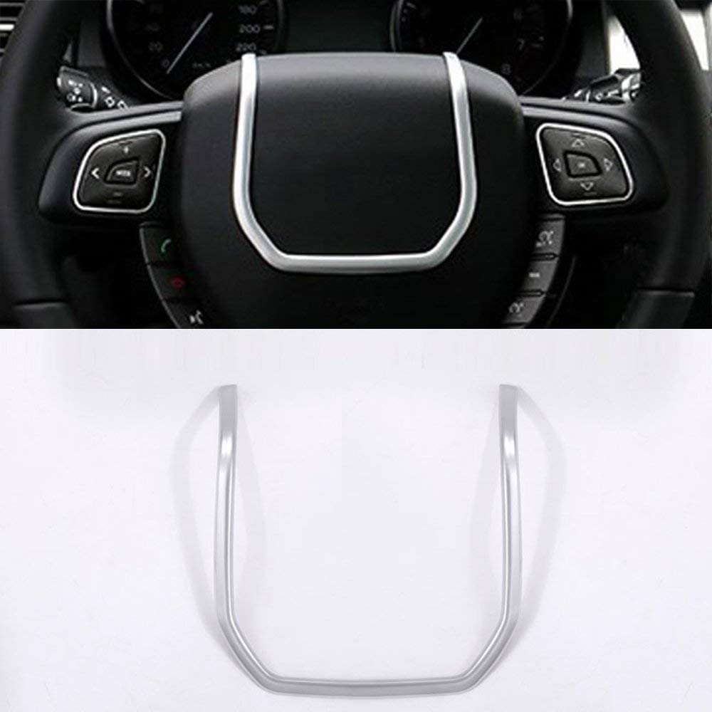 ABS Chrome Steering Wheel Decoration Strip Cover Trim 1pc for Land Rover Range Rover Evoque 2012-2017
