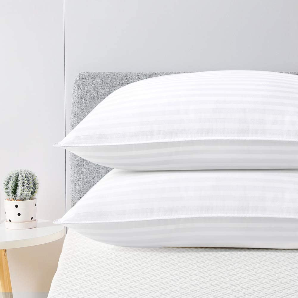 Down Alternative Hypoallergenic Pillows for Side Back and Stomach Sleepers Bed Pillows 2 Pack Hotel Quality Pillow Soft and Supportive Gusseted Pillow 20x26 viewstar Standard Pillows for Sleeping