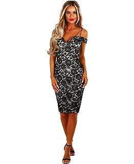 Vestidos De Fiesta Largos Sexys Casuales Elegantes Encaje Negros Ropa De Moda Para Mujer VE0064