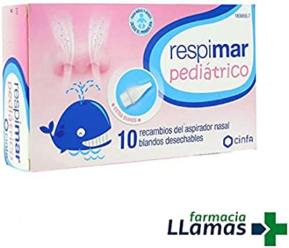 Cinfa RESPIMAR PEDIATRICO 10 RECAMBIOS DE ASPIRADOR NASAL BLANDO ...