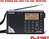 TECSUN PL-310ET FM Stereo/SW/MW/LW World Band PLL DSP Radio Black