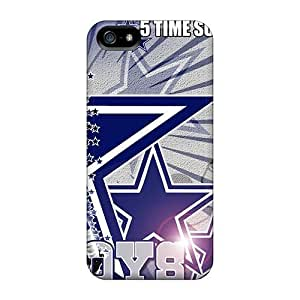 Hot Ini543ylnd Dallas Cowboys Tpu Cases Covers Compatible With Iphone 5/5s