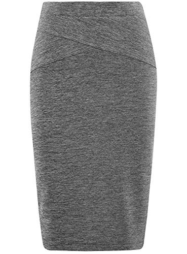 Gris oodji Crayon Femme en Jupe Textur Ultra 2501m Tissu 1qqWp0Ur