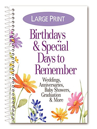Product Concept Mfg., Inc. Birthdays & Special Days To Remember Date Book-Large ()