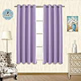 Vangao Light Blocking Lilac Blackout Curtains Kids Room Darkening Thermal  Insulated Decorative Curtain Panels/Drapes Solid Grommet Top Window For ...