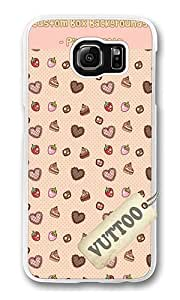 Samsung S6 Case,VUTTOO Cover With Photo: Dessert Patterned Background For Samsung Galaxy S6 - PC Transparent