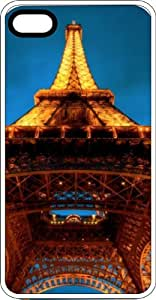 Eiffel Tower In the Blue Sky White Rubber Case for Apple iPhone 6 Plus
