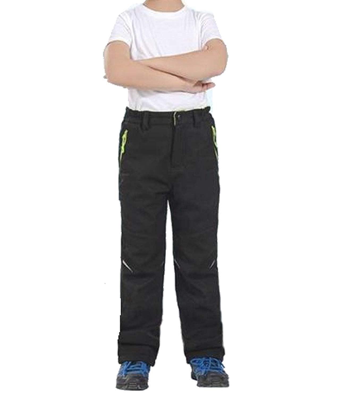SANKE Kids Boys Girls Snow Pants Outdoor Hiking Ski Warm Waterproof Fleece Lined Pants