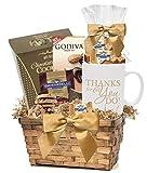 Thank You Gift Basket with Snacks & Mug/Employee Appreciation Basket/Holiday Gift Basket/Appreciation Gifts/Corporate Thank You Gift Baskets/Employee Appreciation Gifts Admin Office Gifts/