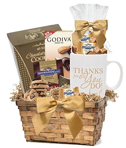 amazon com thank you gift basket with snacks mug employee