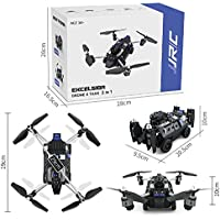 RC Mini Drone, JJRC 4 Channel 2.4GHz 6-Axis Gyro Helicopter with 720P HD Camera LED Lights WiFi FPV Headless Mode Land RC Tank Quadcopter Toys For Adult Kids Aerial Photography Racing, by ECLEAR