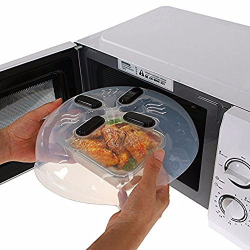 Magnetic Microwave Splatter Lid Food cover with Steam Vents ( Dishwasher-Safe & BPA-Free ) 11.5 – Inch