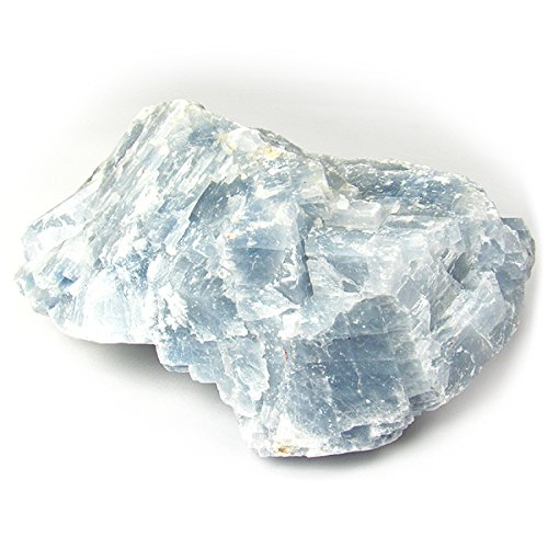 Mexican Crystal ((#1) 1pc Large Extra Premium Quality #1 Choice Pick Mexican Blue Calcite Raw Rough 100% Natural Crystal Gemstone Specimen