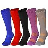 Organic Graduated Compression Socks (1 Pair Grey/Orange, US Women 8-10 // US Men 6.5-8.5)