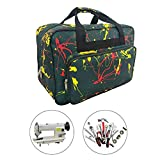 Sewing Machine Carrying Case Tote Bag,Padded Storage Cover Carrying Case with Pockets and Handles ,Canvas ,Universal Sewing Machine Bag with Pockets(Grass Green)