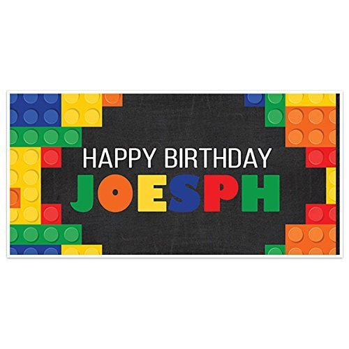 Building Blocks Birthday Banner Party Decoration Backdrop