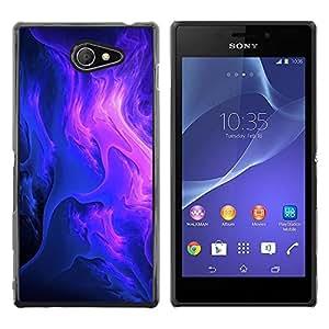Be Good Phone Accessory // Dura Cáscara cubierta Protectora Caso Carcasa Funda de Protección para Sony Xperia M2 // Purple Clouds