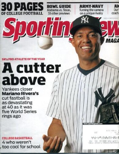 Georgetown Ken - Sporting News December 21 2009 Mariano Rivera/New York Yankees on Cover, College Football, Bowl Guide, Army-Navy Game, Greg Monroe/Georgetown, Ken Griffey Jr/Seattle Mariners