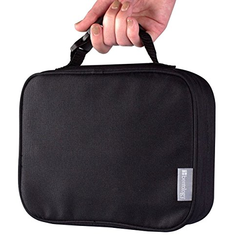 Portion Perfect Insulated Sleeve by Bentology - For Bento Box Lunchbox - Black (Portion Lunch Box Perfect)