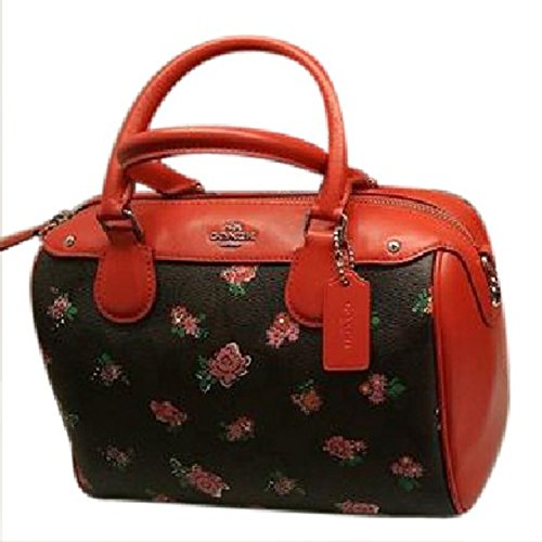 Coach Leather Handbag Bag Multicolor Floral - Coach Multicolor Handbags
