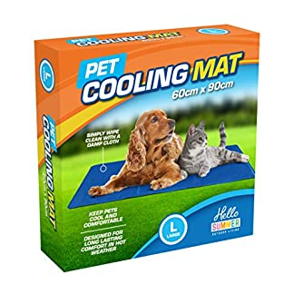 vivo technologies hello summer dog cooling mat - durable pet cool mat non-toxic gel self cooling pad, great for dogs cats in hot summer - large 60 x 90cm Vivo Technologies Hello Summer Dog Cooling Mat – Durable Pet Cool Mat Non-Toxic Gel Self Cooling Pad, Great for Dogs Cats in Hot Summer – Large 60 X 90cm 51bP6MuoIvL