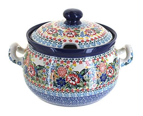 Blue Rose Polish Pottery Hummingbird Soup ()