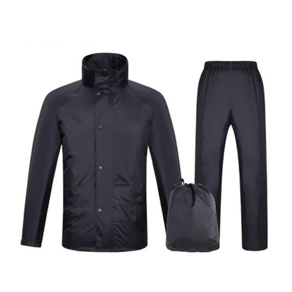 Navy M XAOPN Poncho Imperméable en Plein Air Imperméable à l'eau De Différentes Tailles Pantalons De Pluie De Costume Double Couche épaississeHommest Imperméable