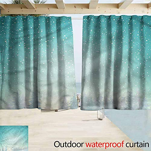 (MaryMunger Balcony Curtains Winter Spruce Forest Snow Woods Darkening Thermal Insulated Blackout W55x45L Inches)
