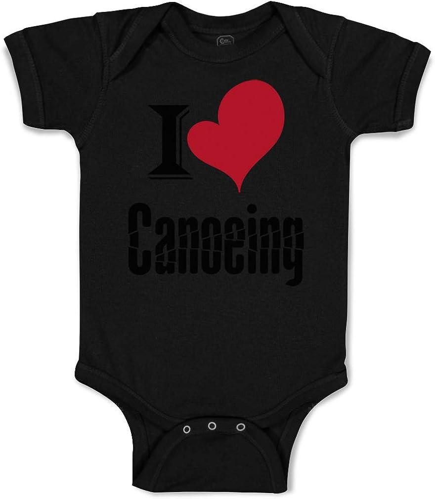 Cute Rascals Custom Baby Bodysuit I Love Canoeing Sport Canoe Funny Cotton Boy /& Girl Clothes