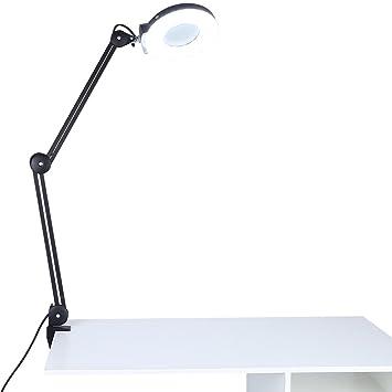 5x magnifier desk lampadjustable swivel swing arm magnifier table lamp light for beauty