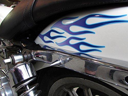 No。28 – Grapeとグレイシャーピンストライプ-28pc – Old School炎デカールfor Motorcycleタンク、フェンダー、ヘルメット   B016EKQ4T0
