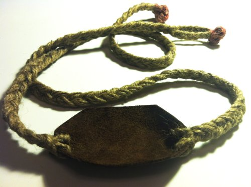 (Leather Pouch and Jute Shepherd Sling Handmade By David the Shepherd)
