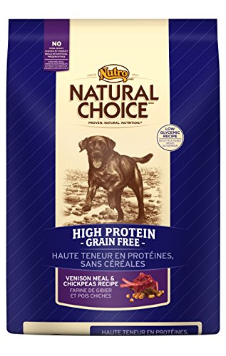 NATURAL CHOICE Venison Meal and Chickpeas High Protein Grain-Free Recipe, 4 lbs.
