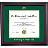 North Texas Eagles Diploma Frame Green Gold Matting Embossed Seal